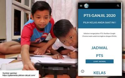 SMPN 1 Ciledug melaksanakan PTS ditengah pandemi